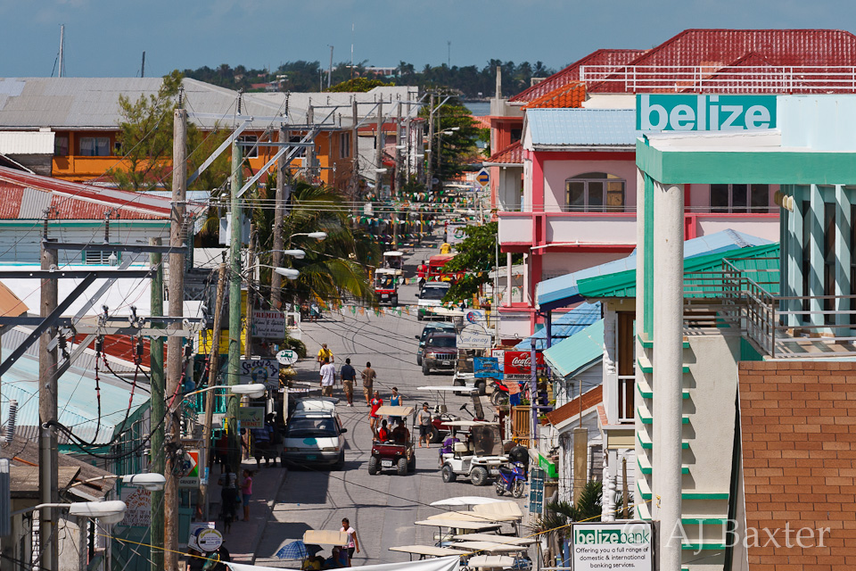 BELIZE TOWN VIEW